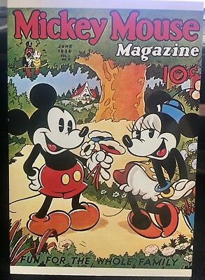 Vintage Mickey Mouse Magazine Postcard