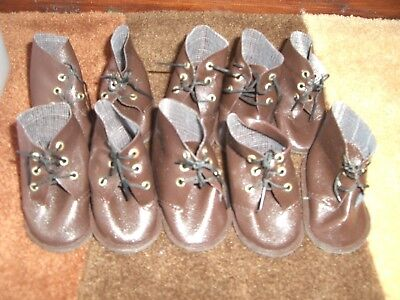 VINTAGE JOB LOT OF DOLLS SHOES 6 pairs dolls teddys boots/ shoes