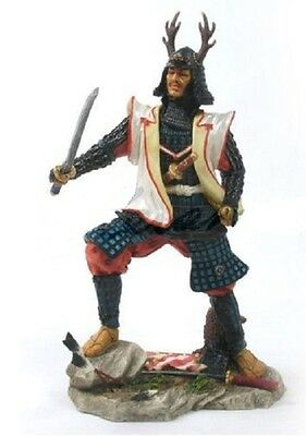 "10"" Japanese Samurai Fighting Sword Collectible Statue Figurine Warrior Oriental"