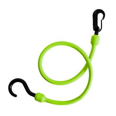 6X The Perfect Bungee 24-Inch Tie Down Bungee Cord with Nylon Hook & Clip Green