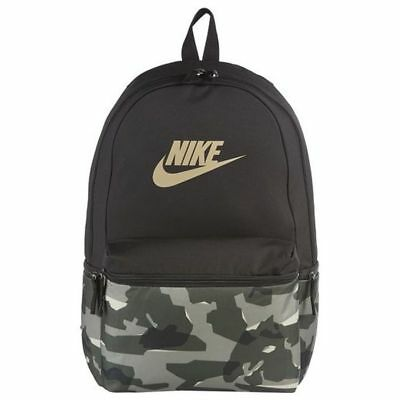 NEW NIKE HERITAGE Classic Camo Backpack Black Gray BA5873 493 BKPK ... 48d8f94deae12