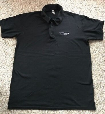 Goose Island Beer Co Black Polo Type Shirt Sz Med