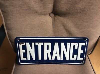 "~Vintage Restaurant / Diner  Tin Sign~""Entrance""~Raised Lettering~"