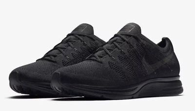 the latest 5d764 ccc5c NEW Nike FLYKNIT TRAINER Men s Shoes Black Anthracite AH8396-004