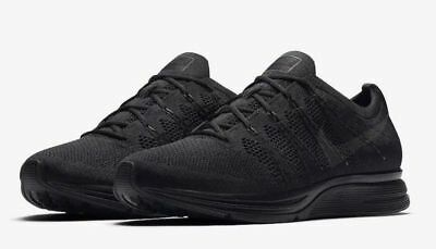 NEW Nike Flyknit Trainer Men's Shoes Black Anthracite AH8396-004