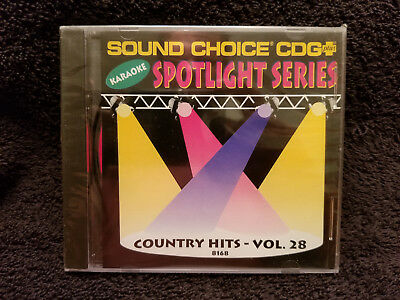 Sound Choice Karaoke CD+G Spotlight Series Country Hits - Vol. 28 - 8168 New!