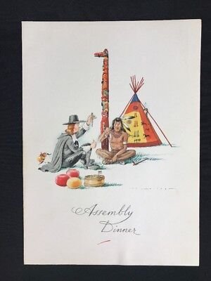 Vintage Holland America Line Cruise Ship Assembly Dinner Menu March 12, 1969
