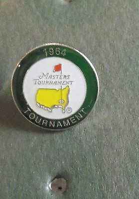 1 only U.S. MASTERS 1964 (his last win)  GOLF ball marker  ARNOLD PALMER + CASE