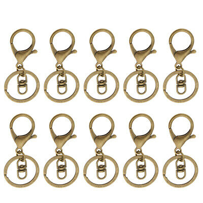 35 Sets Silver/Gold Swivel Trigger Lobster Clasp Clip Hook Key Ring 2 Style