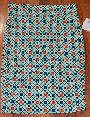 d34de98fdb NEW LulaRoe Cassie Pencil Skirt Plus Size 2XL 22-24 Mint Green Red Blue NWT