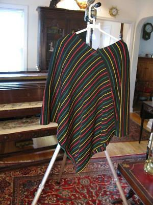 80b602241 Ruana/Cape/Poncho /Wrap Black with Multi-Color Stripes