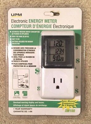 UPM Marketing EM100 Electronic Energy Meter With LCD Display Appliances - New!