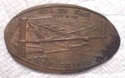 1933 Chicago World's Fair Collectible Historical Elongated Penny Sky Ride