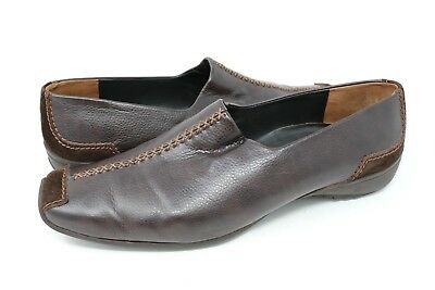 Paul Green Women's Brown Munchen Leather Slip-On Loafer Leather Suede Size 9