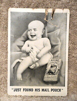 Mail Pouch Tobacco 2-sided Cardboard Advertizing Sign....VERY RARE !