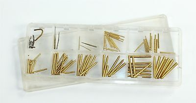 Assorted Round Tapered Pins - Brass - Clock Parts - Al199