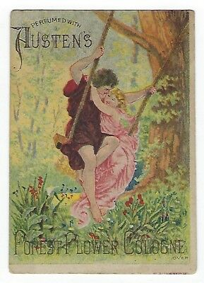 Austen's Forest Flower Cologne late 1800's perfume trade card #A