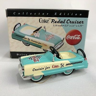 1996 Coca Cola Pedal Cruiser 1:18 Die Cast Mini Car Miniature Coke