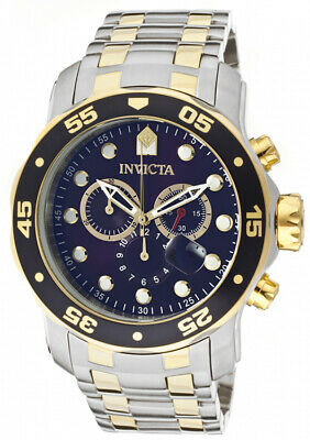 Invicta Men's Pro Diver Chronograph Two Tone Stainless Steel 200m Watch 0077