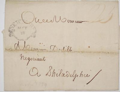1799 Clam shell New York Cancel Stampless Cover *****************