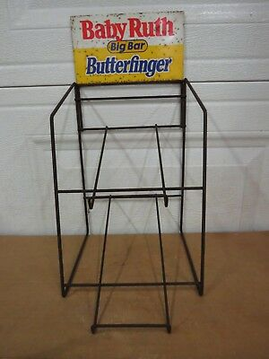 Vintage Baby Ruth Big Bar Butterfinger Candy Bar Store Counter Display Rack
