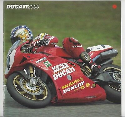 Ducati 2000 Catalog Brochure Motorcycle Desmo 996 748 ST4 Monster Superbike