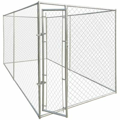Outdoor Steel Dog Cage Kennel Strong House Pet Enclosure Run Fence by VidaXL