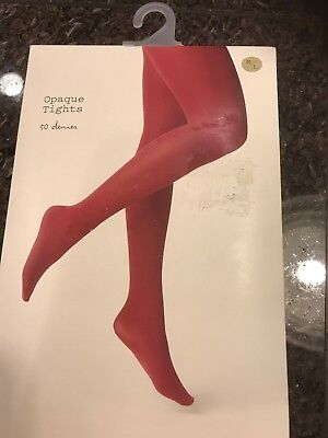 a386aa750 A New Day Opaque Tights Bing Cherry 🍒 Red S M New Free Shipping Denier