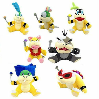 Super Mario Koopalings Plush Toys Wendy LARRY IGGY Ludwig Roy Morton  Plush Toys