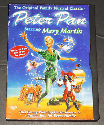 Peter Pan DVD 1960 TV Musical Mary Martin Authentic USA Goodtimes