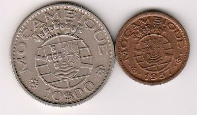 2 different world coins from MOZAMBIQUE