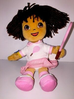 Dora The Explorer Ty Beanie Babies Dora Del Tenis Tennis Doll Plush 2006 NWT