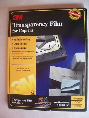 3M Transparency Film for Copiers for 8.5 x 11 Paper 50 Sheets PP2500 - OPEN BOX