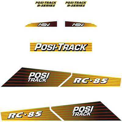 ASV RC85 Decals Stickers Repro ASV decal Kit