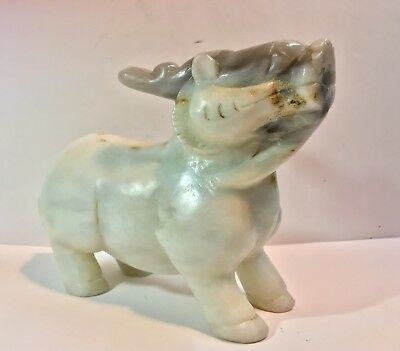 Chinese Antique Nephrite JADE Carving- White Jade Deer - 784g Qing Dynasty