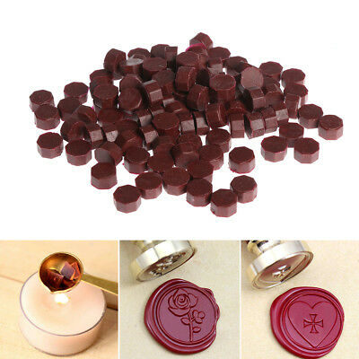 100pcs/lot Retro Vintage Sealing Wax Tablet Pill Beads Wax Seal Postcards