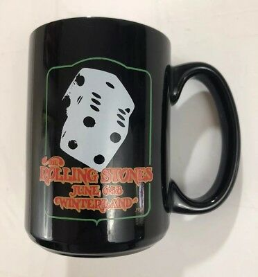 The Rolling Stones Coffee Mug Cup 1972 Winterland American Tour Rock Band Vtg