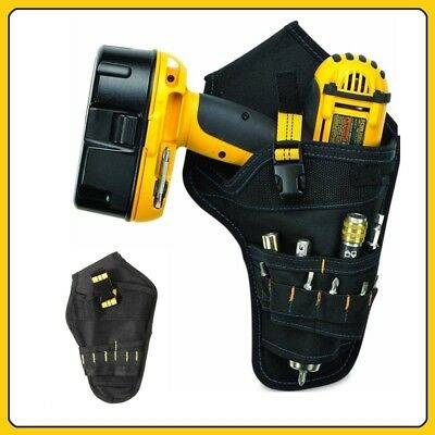 Drill Holster Cordless Tool Holder Heavy Duty Belt Pouch Bag Pocket Black #HA2