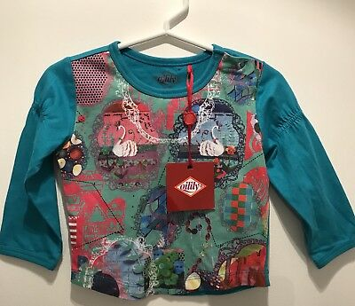 ** Oilily ** Baby Girls Long Sleeve Top Size 6-12 Months. Designer. BNWT