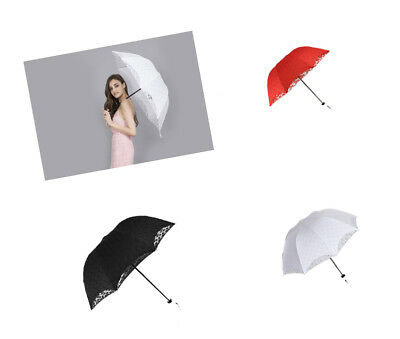 White bridal or Bridesmaid Wedding Umbrella available White  Red Black