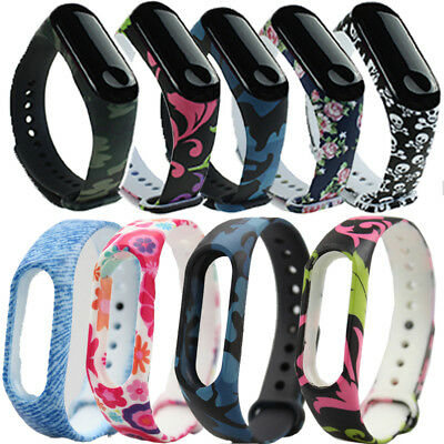 Silicone Printing Strap Wrist Band Replacement Bracelet For Xiaomi Mi Band 3