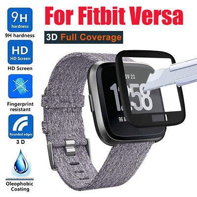 Full Coverage Curved Edge 9H 3D Tempered Glass Screen For Fitbit Versa Watch New