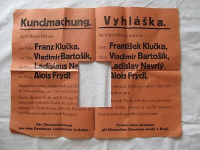 German AUTHENTIC POSTER EXECUTION OF CRIMINALS