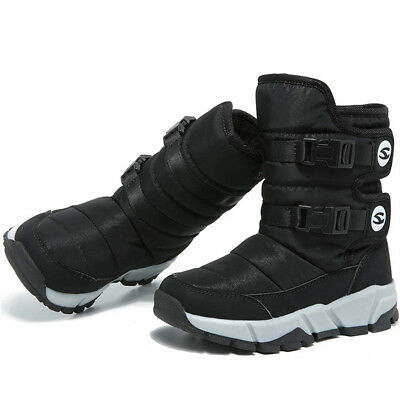 SAGUARO Winter Kids Girls Boys Warm Snow Boots Fur Lined Shoes Outdoor US F05-45