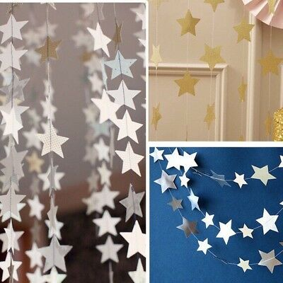 13ft Star Paper Garland Banner Bunting Drop Baby Shower Wedding Party Decor JK