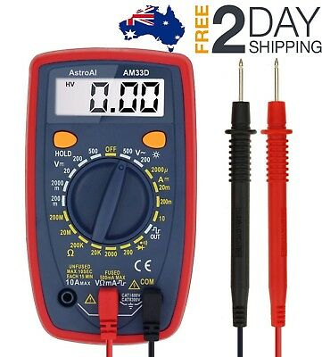 Electrical LCD Digital Diode Volt Meter Multimeter RMS AC/DC OHM Multi Tester