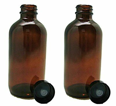 16 oz Glass Amber Bottles with Poly Seal Cap to Store Your Cleaning Supplies or