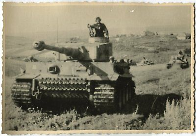 German Wwii Archive Photo: Panzer Vi Tiger Heavy Tank On The Move
