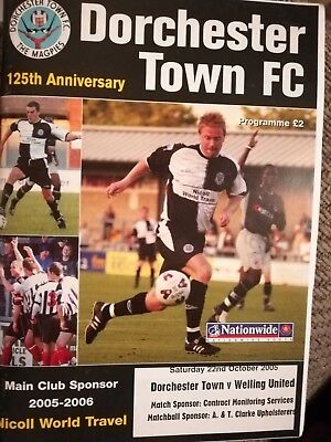 DORCHESTER TOWN v WELLING UNITED (FA CUP 4th QUALIFYING ROUND) 2005-06