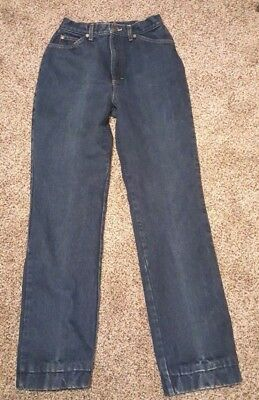 Vintage Ll Bean Red Flannel Lined Blue Jeans Made In U.s.a. Womens Sz 10